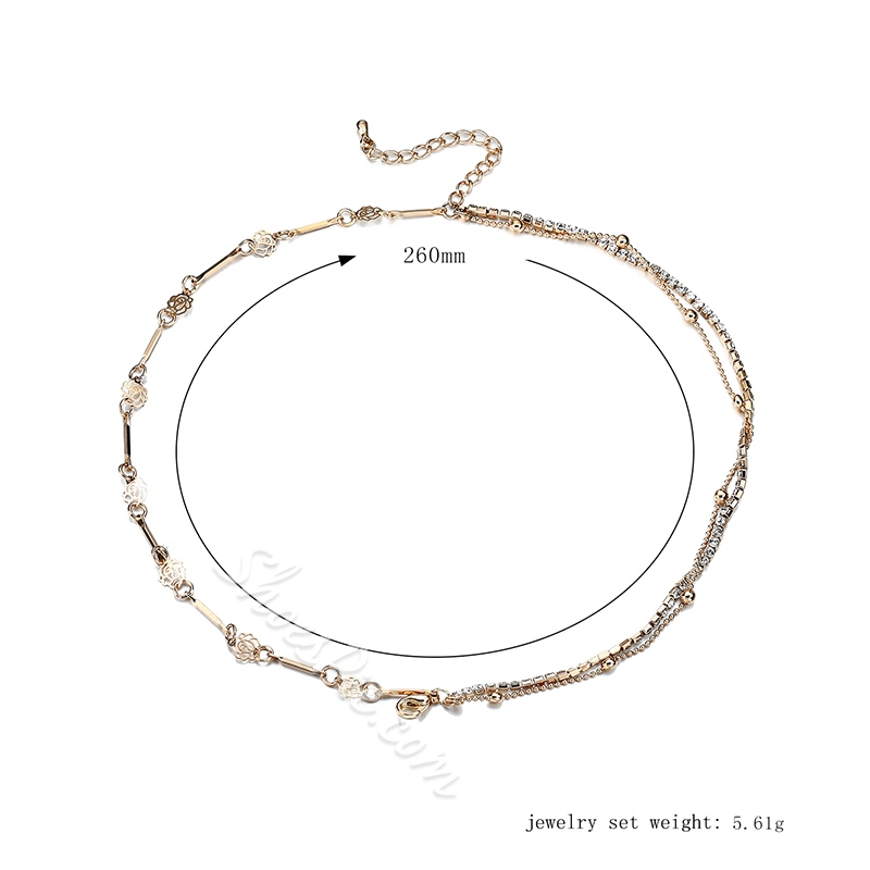 Shoespie Concise Diamante Anklet for Women