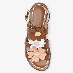 Shoespie Flowers Threading Flat Sandals