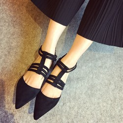 Shoespie Pointed-toe Breathable Crisscross Stiletto Heels