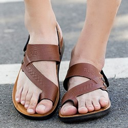 Shoespie Toe Ring Slip-On Men's Sandals
