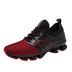Shoespie Lace-Up Color Block Athletic Shoes