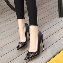 Shoespie Rhinestone Breathable Stiletto Heels