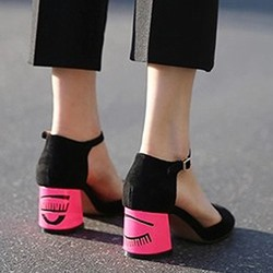 Shoespie Cartoon Block Heel Round Toe Sandals