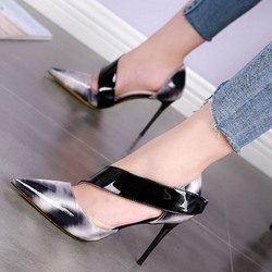 Shoespie Sexy Wide Tape Stiletto Heels