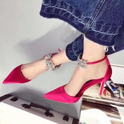Shoespie Sexy Lace-up Rhinestone Stiletto Heels