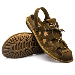Shoespie Casual Summer Closed Toe Hollow Lace-Up Men's Sandals