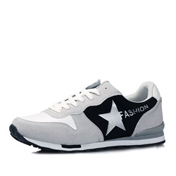 Shoespie Faux Suede Stars Men's Sneakers