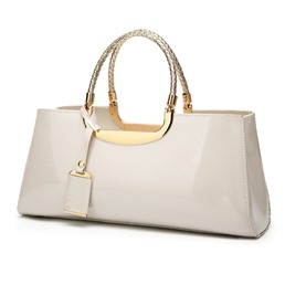 Shoespie Noble Glossy PU Evening Clutch