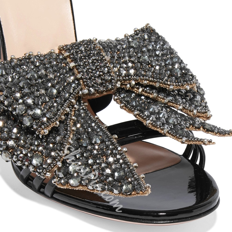 Shoespie Bling Bows Strappy Dress Sandals