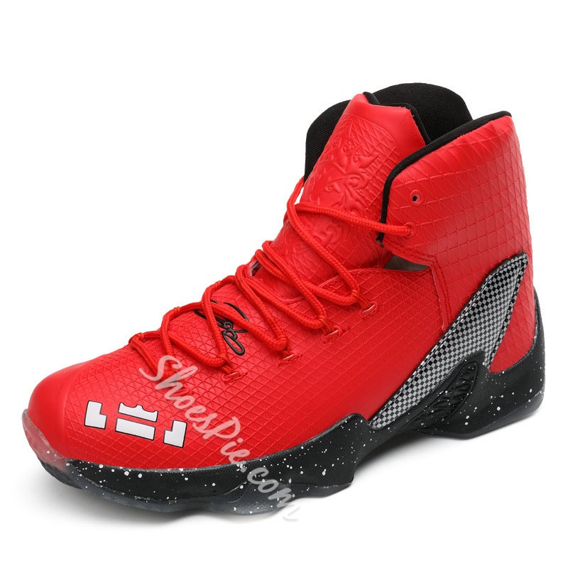 Shoespie Embossed Lace Up High Upper Men's Sneakers