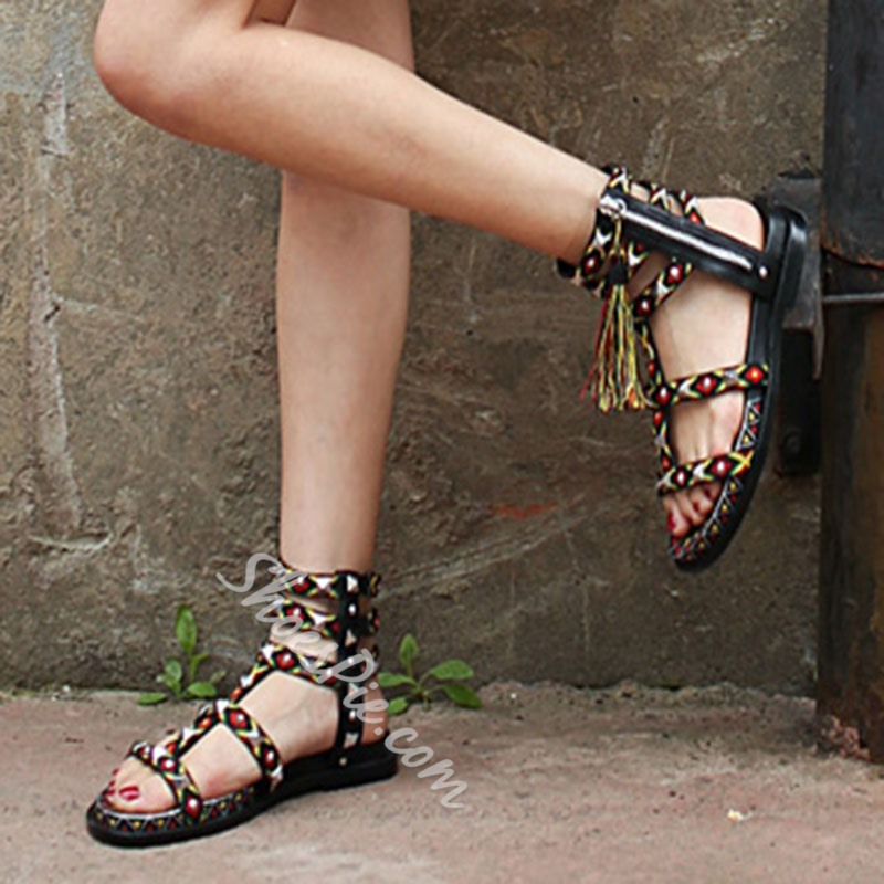 Shoespie Folky Pattens Flat Sandals