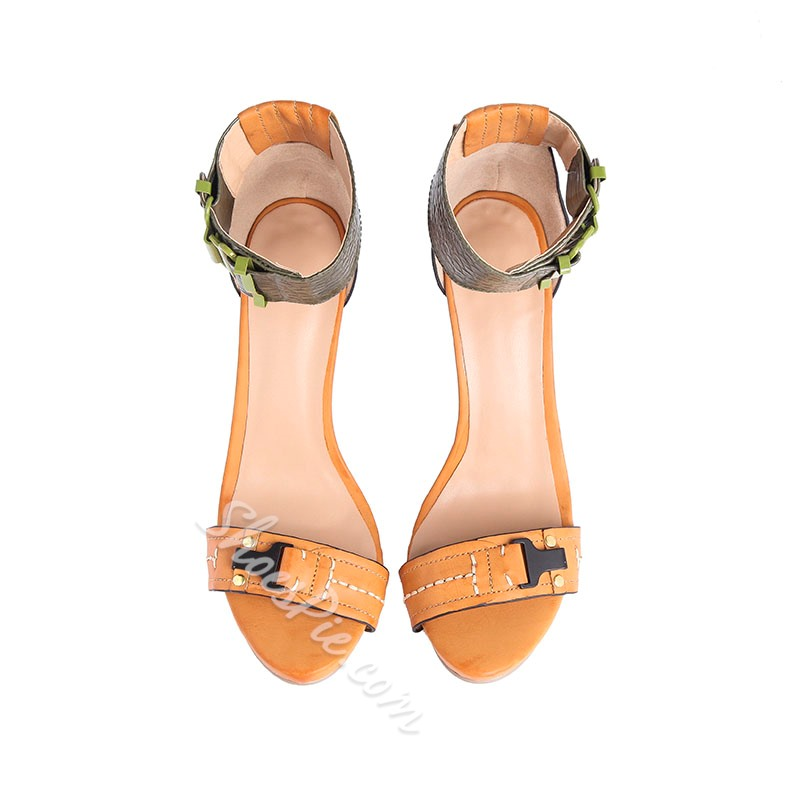 Shoespie All Match Ankle Wrap Stiletto Heel Sandals