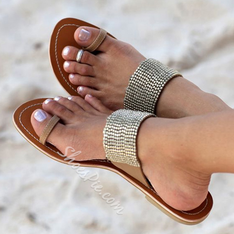 Shoespie Clip Toe Beach Slippers