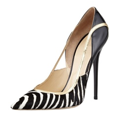 Shoespie Zebra stripes Breathable Stiletto Heels