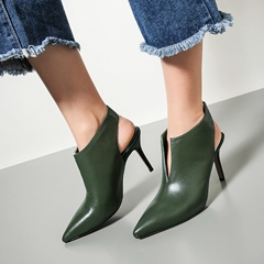 Shoespie Pointed-toe Naked Ankle Boots