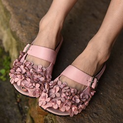 Shoespie Soft Flora Applicure Flat Sandals