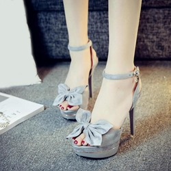 Shoespie Cute Bow Platform Sandals