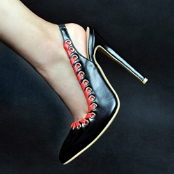 Shoespie Naked Pointed-toe Stiletto Heels