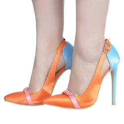 Shoespie Summer Cool Pointed-toe Metal Buckles Stiletto Heels