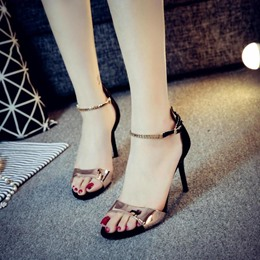 Shoespie Metal Ankle Strap Heel Sandals