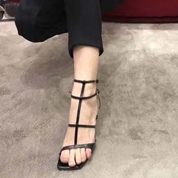 Shoespie Strappy Open Square Toe Sandals