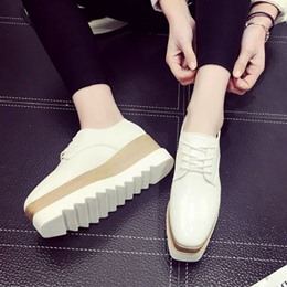Shoespie Trendy Platform Lace-up Sneaker