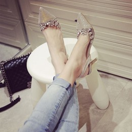 Shoespie Pointed-toe Shallow Reticular Bare Stiletto Heels