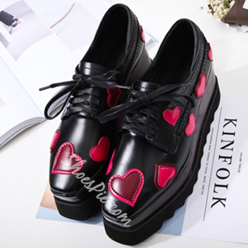 Shoespie Sweet Heart Platform Sneaker