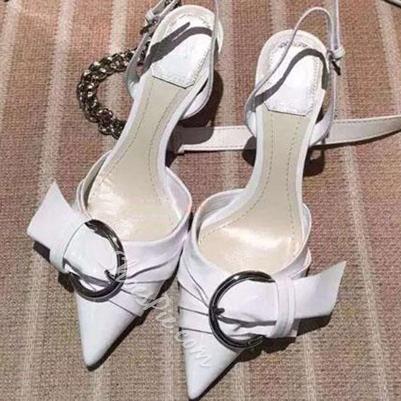 Shoespie Pointed Toe Slingback Dress Sandals