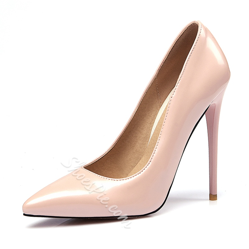 Shoespie Elegant Pointed-toe Solid Stiletto Heels