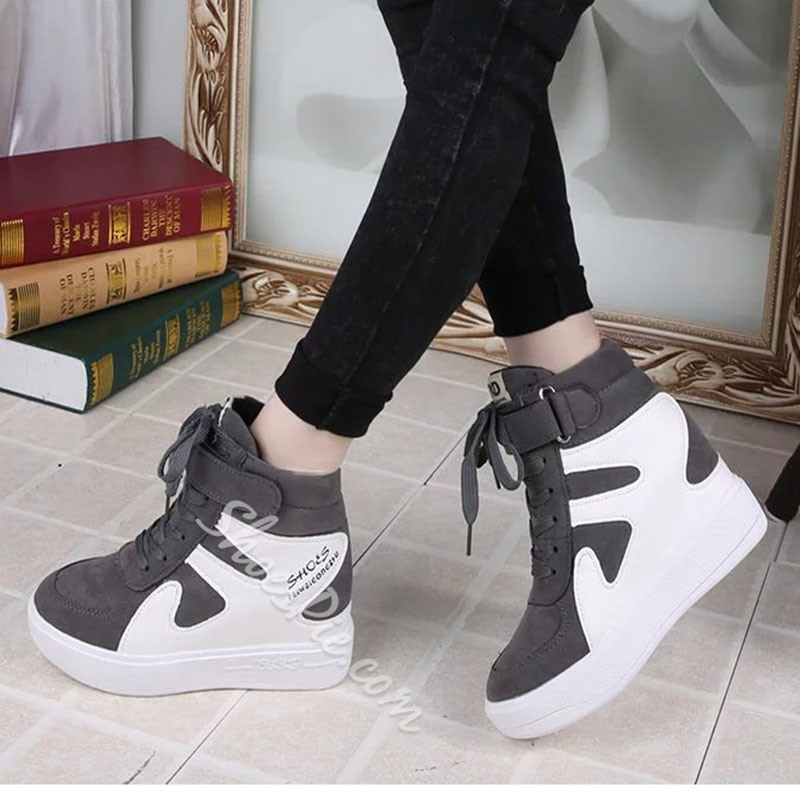 Shoespie Hot Color Block Elevated Sneakers