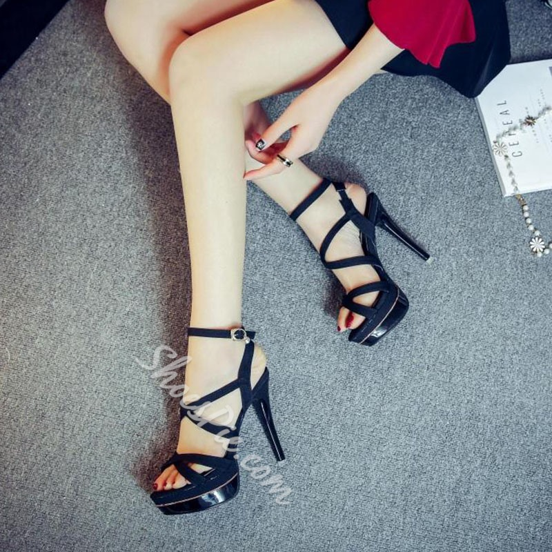 Shoespie Cute Strappy Platfom Sandals