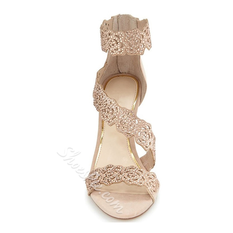 Shoespie Revolving Breathable Back Zipper Dress Sandals