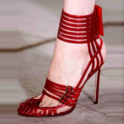 Shoespie Sexy Open Toe Metal Buckles Stiletto Heels
