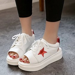 Shoespie Peep-toe Pentagram Sneaker