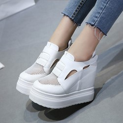 Shoespie Breathable Flatform Grenadine Sneaker