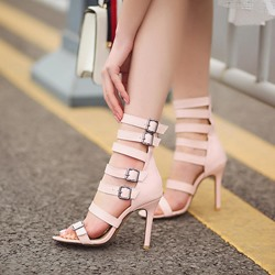 Shoespie Straps and Buckles Heel Sandals