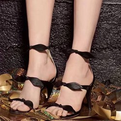 Shoespie Bows Stiletto Heel Dress Sandals