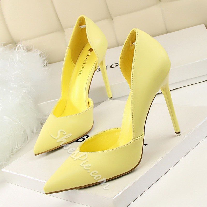 Shoespie Classy Pointed-toe Shallow Stiletto Heels