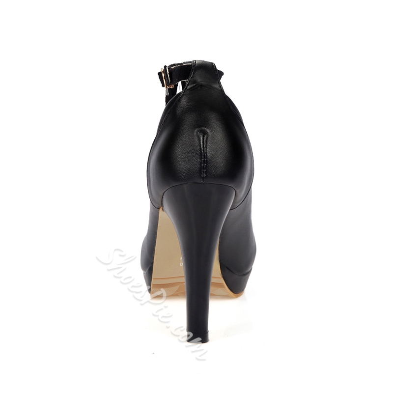 Shoespie Round Toe Rivet Tassel Thread Stiletto Heel
