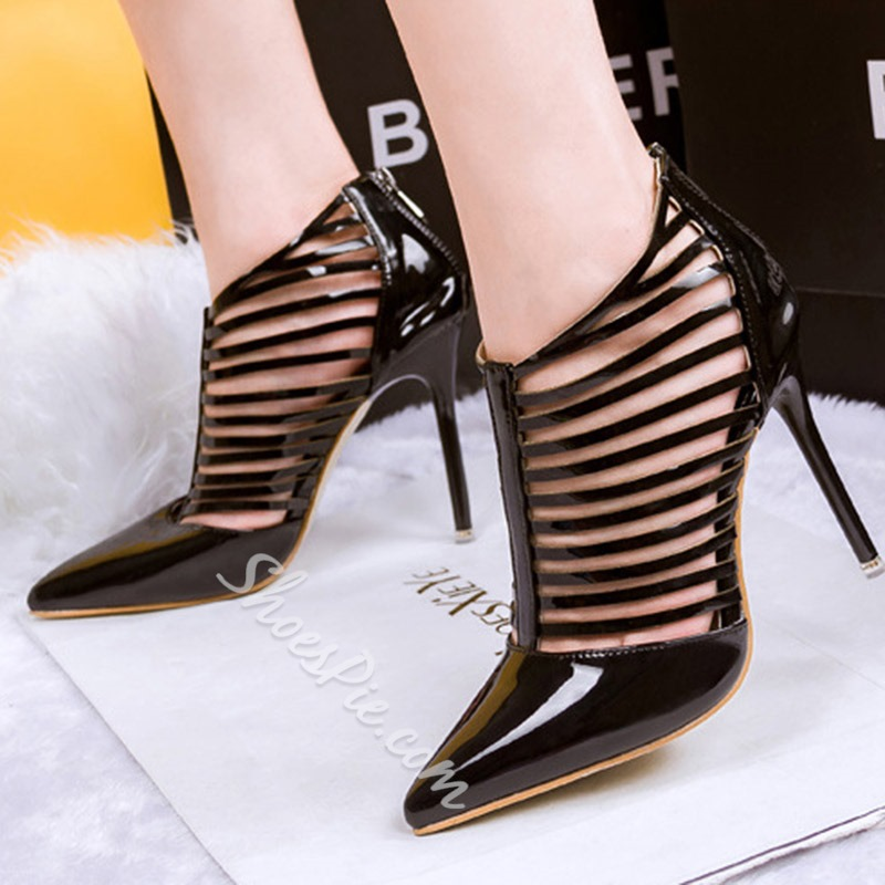 Shoespie Pointed-toe Back Zipper Stiletto Heels