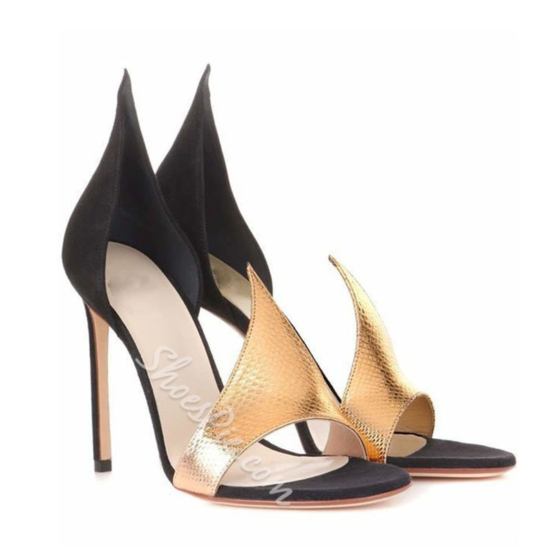 Shoespie Sexy Cutout Heel Covering Dress Sandals