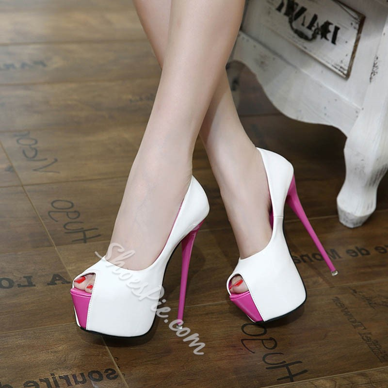 Shoespie Space Age Peep-toe Platform Heels