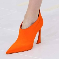 Shoespie Elegant Orange Pointed-toe Ankle Boots
