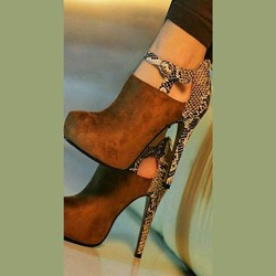 Shoespie Metal Buckles Leopard Print Ankle Boots