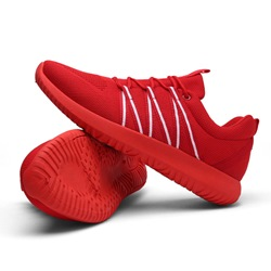 Shoespie Stripe Mesh Lace-Up Sneakers Athletic Shoes