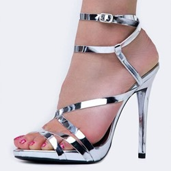 Shoespie Open Toe Buckle Heel Dress Sandals