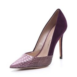 Shoespie Elegant Textural Pointed-toe Stiletto Heels