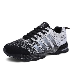 Shoespie Mesh Lace-Up Patchwork Athletic Sneakers