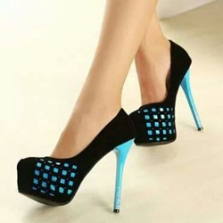 Shoespie Gorgeous Black Platform Heels